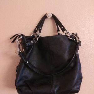 Coach leather logo shoulder bag